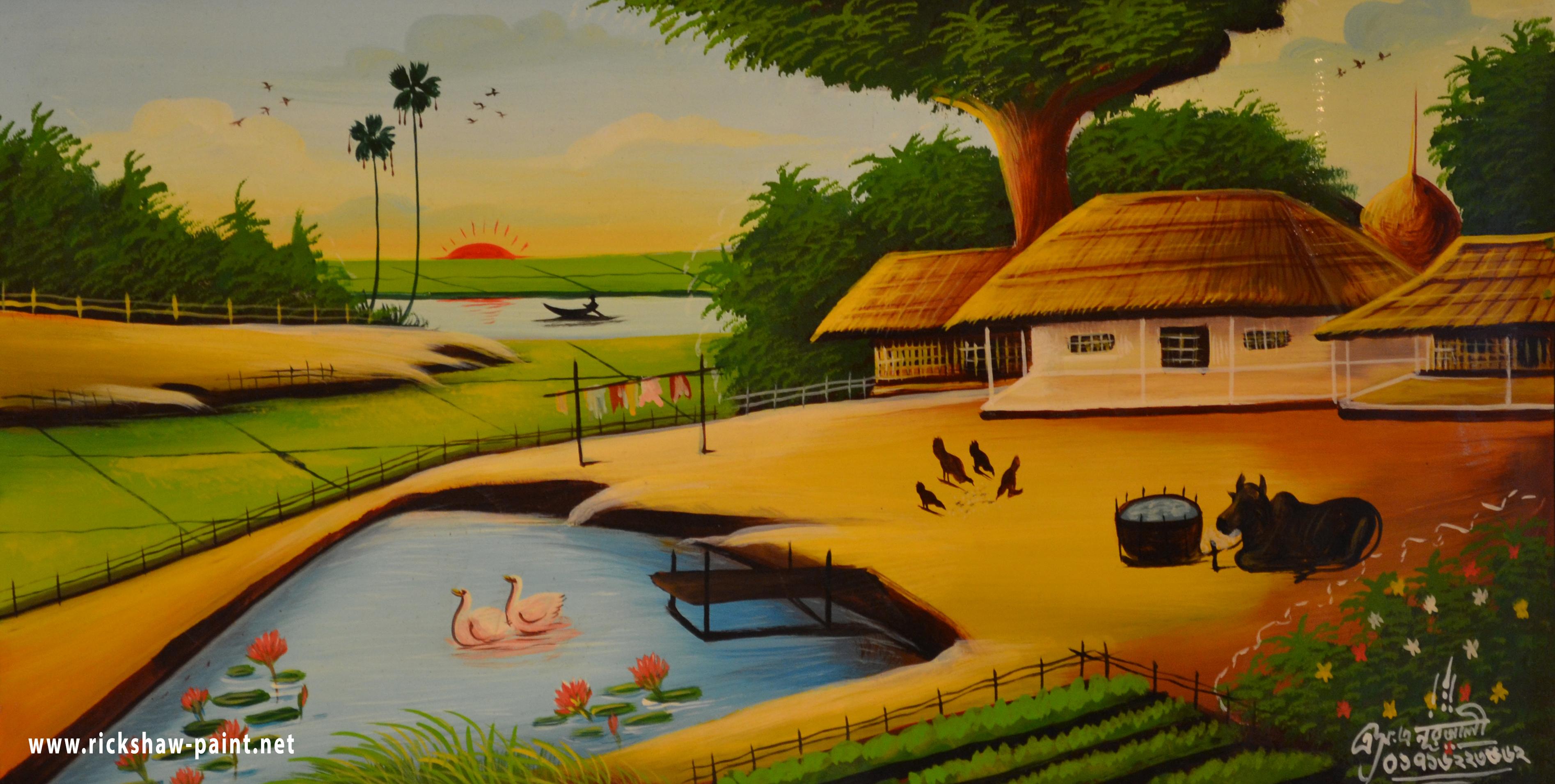 bangladeshi village 2 | rickshaw art